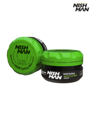 Матовая глина Nishman Hair Styling Wax M2 Keratin 100 мл